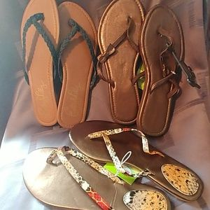 Shoes - Nwt 3 pairs of Sandals